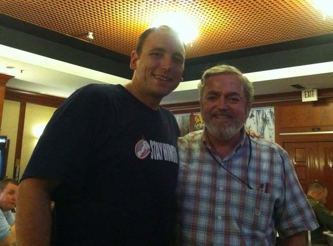 Dad and Joey Chestnut
