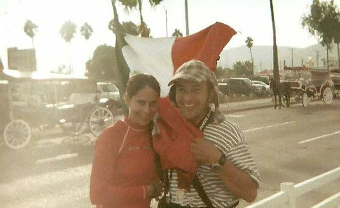 after crossing the finish line in Ensenada
