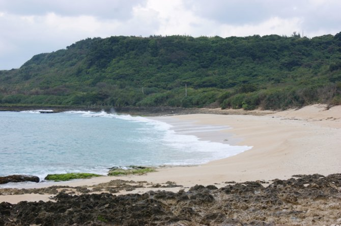 Secluded stretch of beach in Kenting