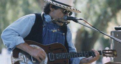 Bluesman Steve White was a presence in Europe.