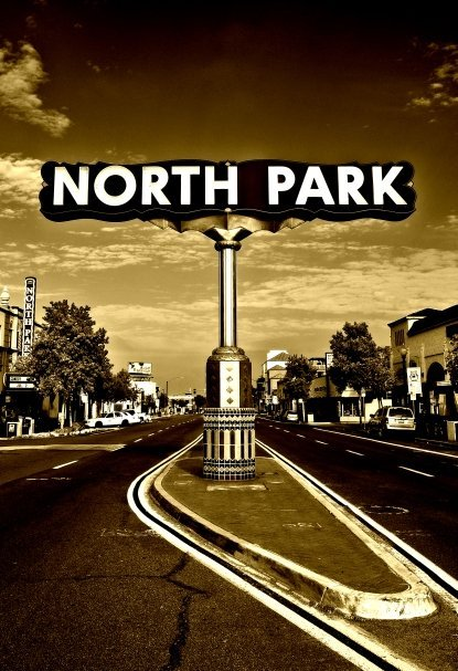 "The iconic ""North Park"" sign at 30th and University Ave. taken June of 2011."