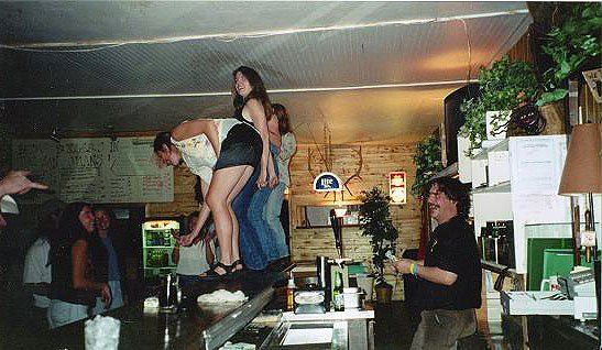 Saturday night at the Enterprise Bar and Grill,  Rico, Colorado(pop. 150)  October, 2000