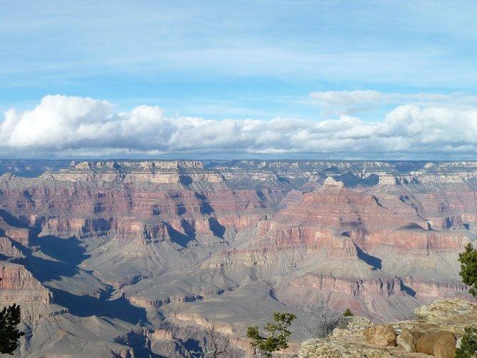 A bird's eye view of Grand Canyon, December 2010