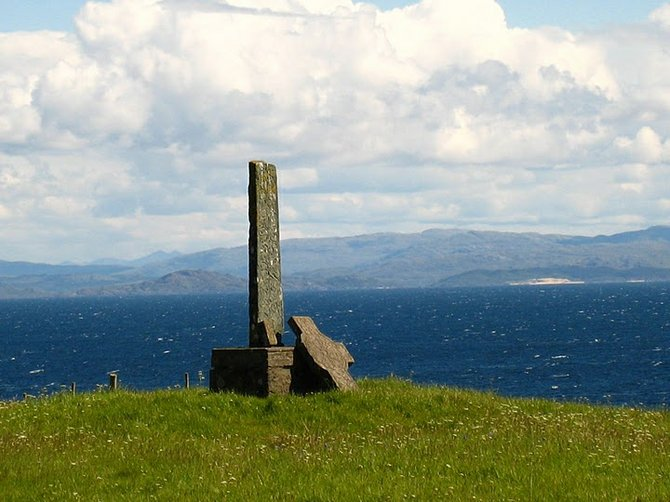 Isle of Eigg, fragments of an ancient stone cross