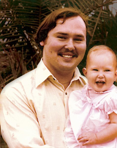 Brianna with her father in 1980.