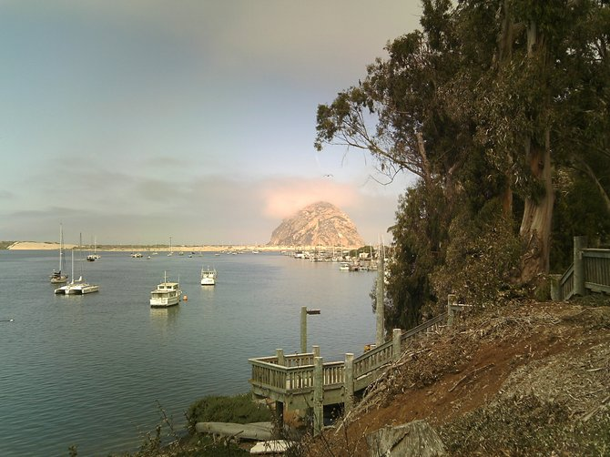 View from a little park at the south end of Morro Bay.