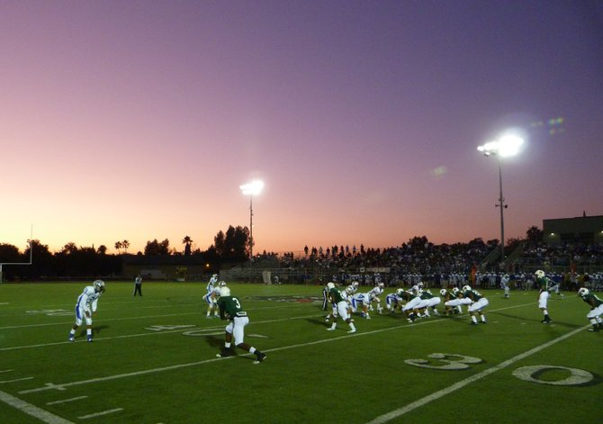 Helix and Eastlake do battle with an East County sunset as the backdrop