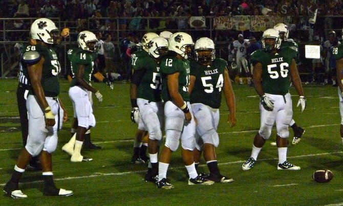 Helix's defensive front gets lined up