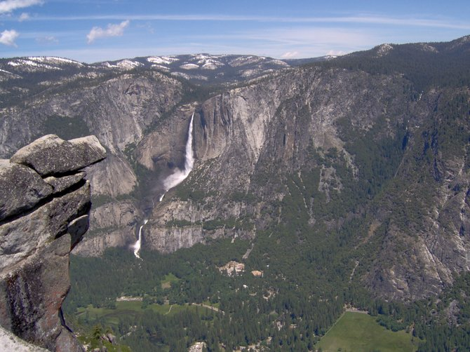 Taken from Glacier Point on June 15, 2011, during the biggest summer water run-off/snow melt in the Parks history.