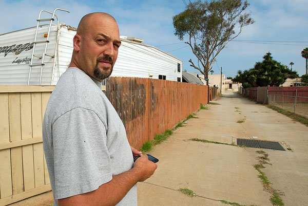 Robert Brians was arrested after he confronted a snooping Imperial Beach code compliance official in the alley behind his house. - Image by Alan Decker