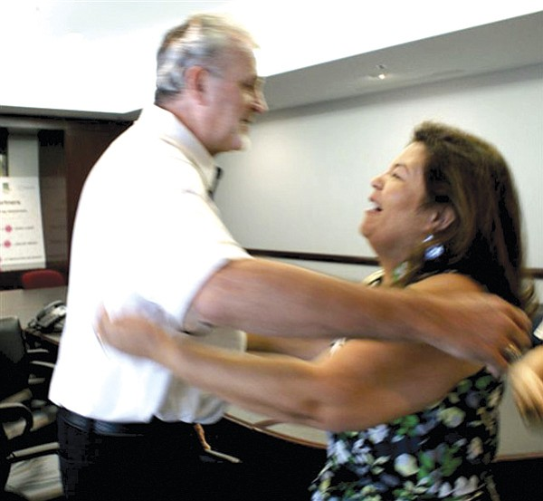 Michael McCrerey meets Letty Silva,  the sister of his liver donor, Mario Pinedo.