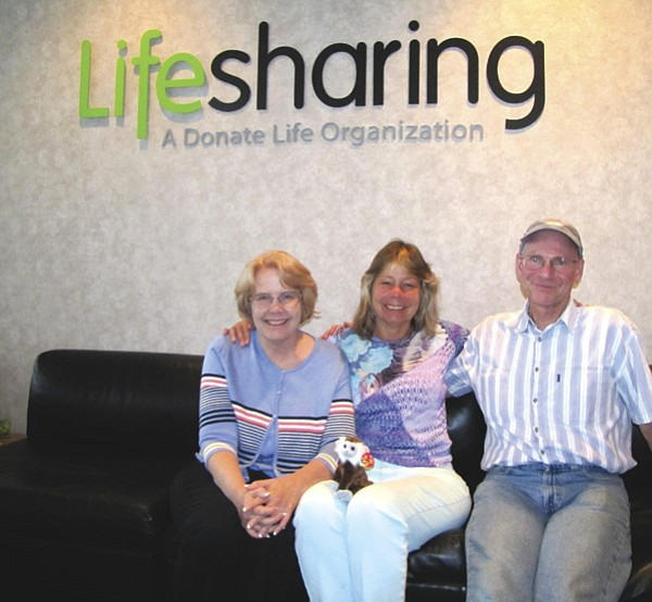 Eight years ago, Monica Cunningham (center) received a pancreas and  a kidney from the deceased 16-year-old son of Katie and Thom Wilson.