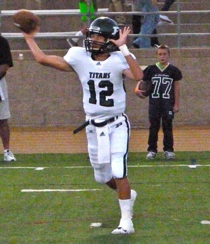 Poway quarterback Gabriel Isaak fires a pass