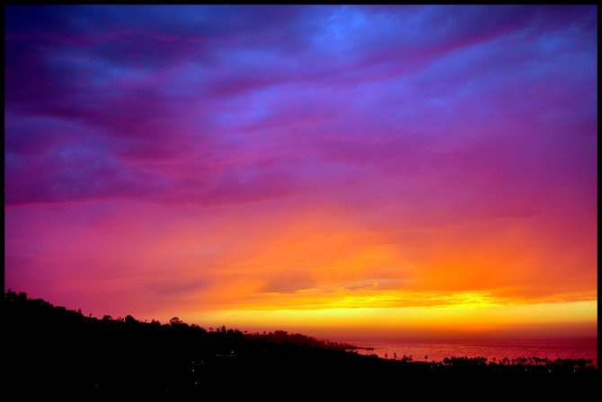Mother Nature delivers the prettiest sunset of the year on this very hot and muggy Labor Day, 2011.