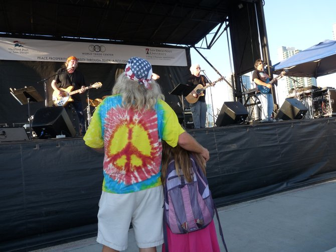 At the Broadway Pier a Jefferson Airplane concert at a 9/11 commemoration ceremony 9/8/11