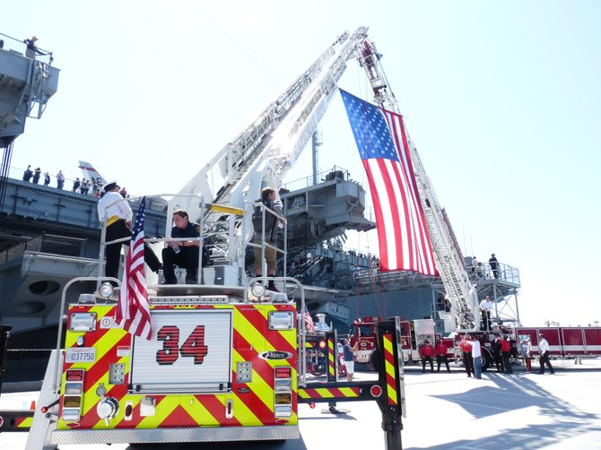 On the Midway at a 9/11 ceremony 9/11/11