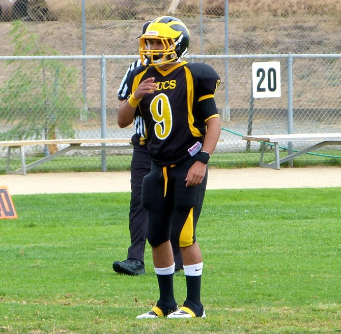 Mission Bay defensive back Anthony Torrescano awaits an Otay Ranch punt