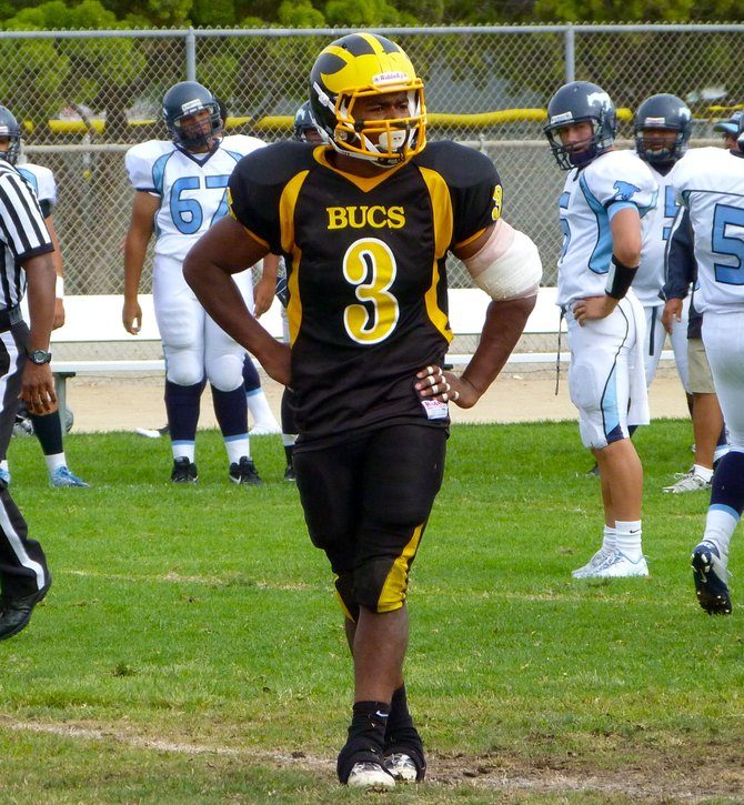 Mission Bay linebacker Isaac Griffin