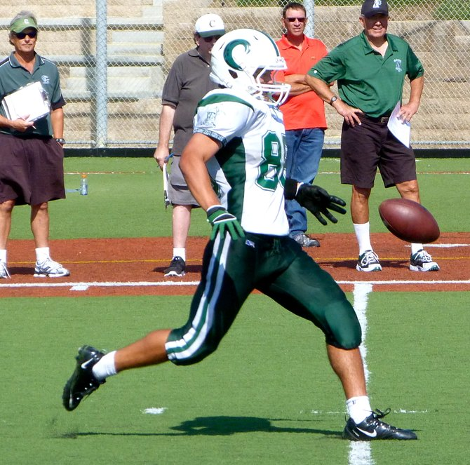 Coronado punter Hunter Corpus lets one fly