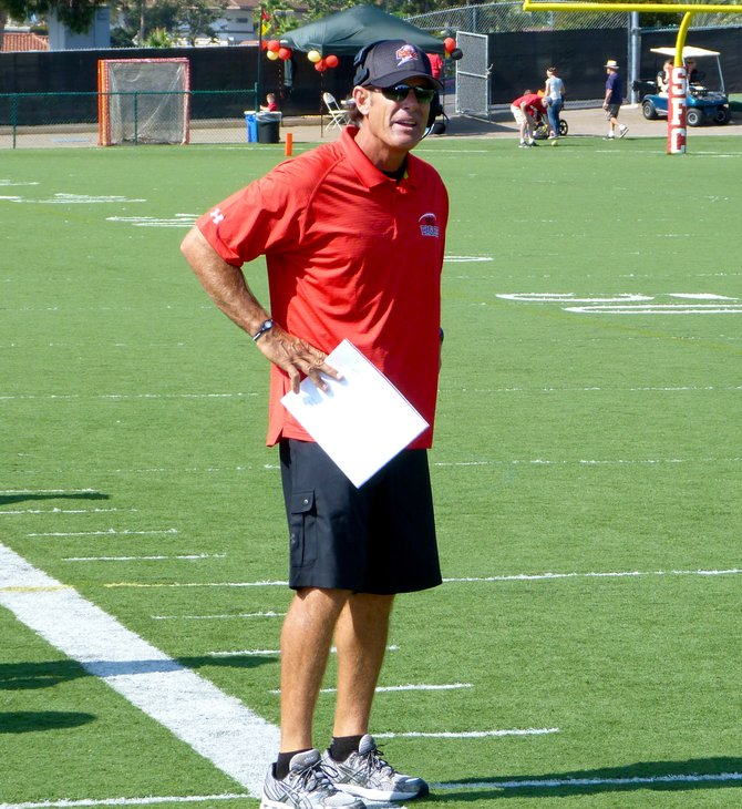 Santa Fe Christian head coach Nick Ruscetta