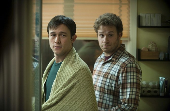 Before his diagnosis, Adam jogs. After diagnosis, he sits on the couch. Joseph Gordon-Levitt and Seth Rogen star in slice-of-life indie 50/50.