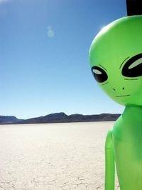 Area 51, plastic alien sighting