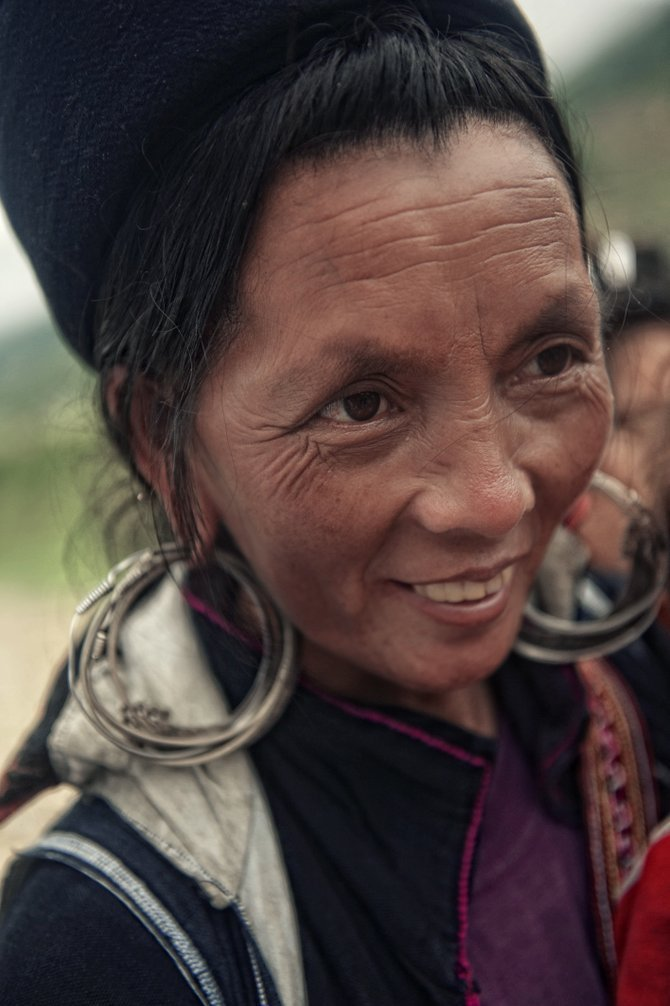 I just got back from Vietnam.  The country was beautiful, the people very poor but very happy.  This was a picture of a villager in the hills of Sapa Vietnam.