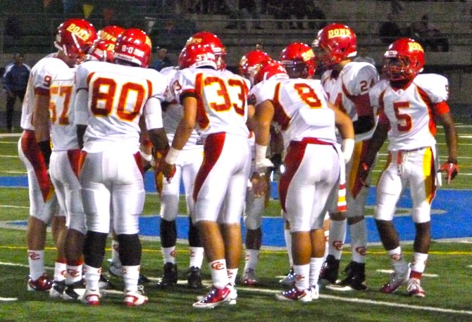Cathedral Catholic's defense huddles up