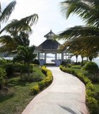 The wind blows through a gazebo in Ocho Rios, Jamaica. Every year, couples come to ...