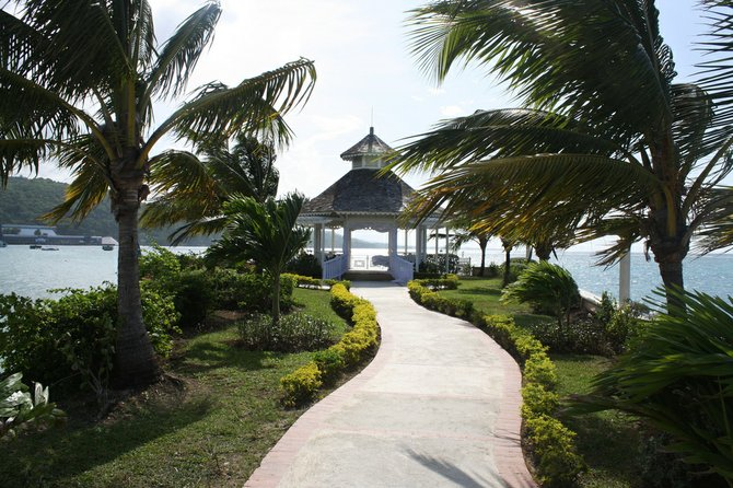 The wind blows through a gazebo in Ocho Rios, Jamaica. Every year, couples come to wed on this beautiful island.