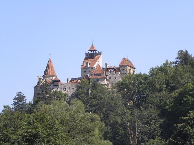 Perched on a rocky cliff, this is known as Dracula's Castle. In truth, Vlad the Impaler only laid siege to it. More famously, Queen Marie of Romania lived here.