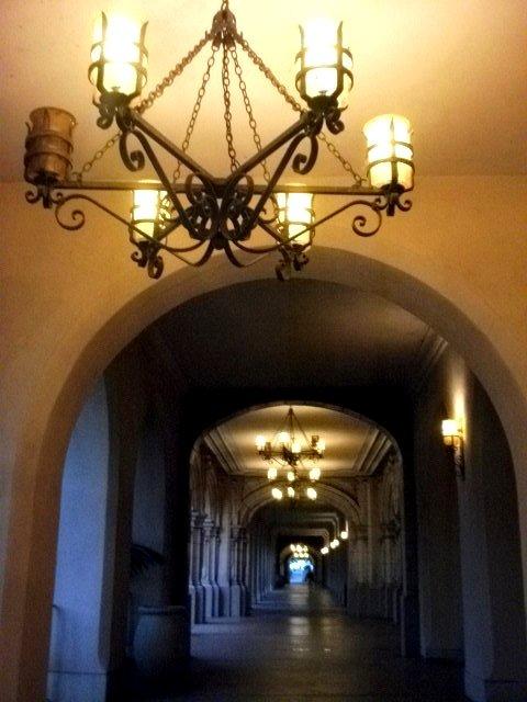 Just walking through a hallway.