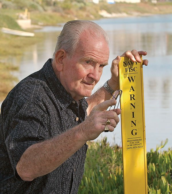 Point Loma resident Jim Gilhooly worries about the 57-year-old fuel pipeline.