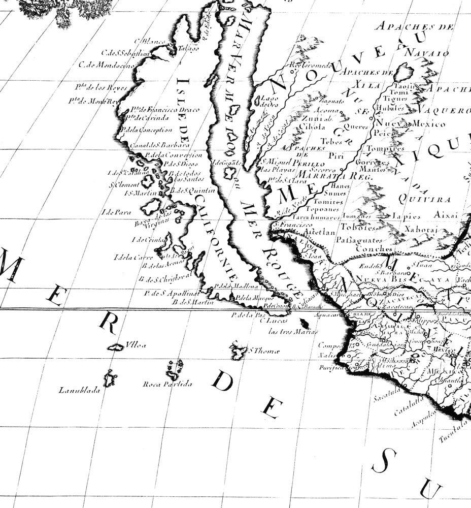 Map of California Island