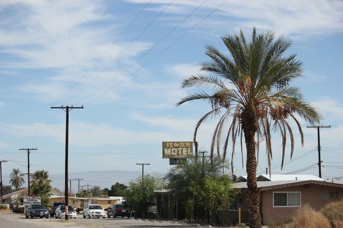 """The Sea & Sun Motel"" is waiting for your call to book a room, located at Desert Shores off the Salton Sea in the Imperial Valley/County side.  You can't beat the sunsets..so hurry and call!