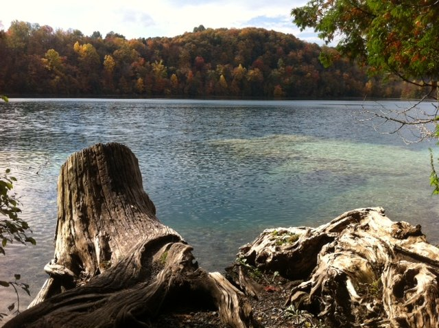 A beautiful fall morning in Green Lakes State Park- Fayetteville, NY