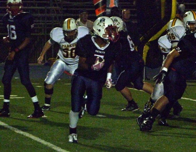 Christian running back Curtis Hampton carries the ball outside