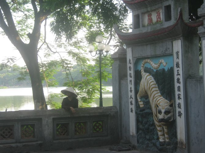 Temple on Hoan Kiem Lake, Hanoi