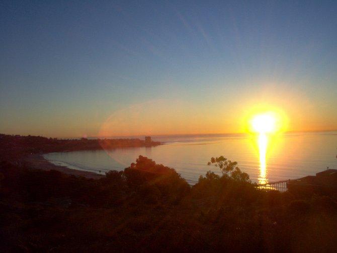 Sunset over La Jolla.