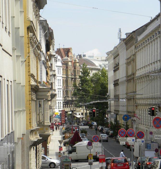 Vienna, view from Berggasse #19