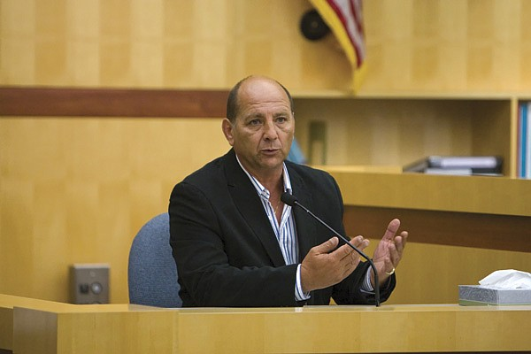 Professional dog trainer Philippe Belloni testified during the jury trial.