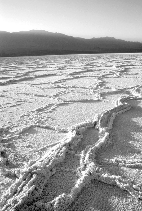 Death Valley salt pan at lowest spot