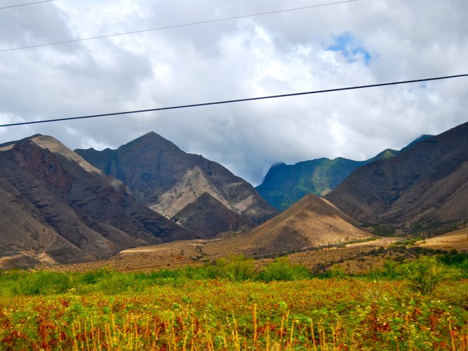 Mountains on the west side of Maui.