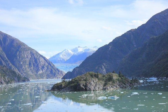 South Sawyer Glacier at the end of Tracy Arm Fjord.  About 50 miles south of Juneau, Alaska.
