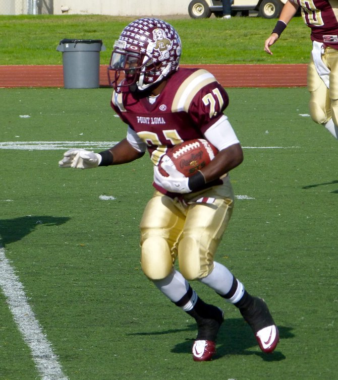 Point Loma running back Jaivon Griffin carries the ball