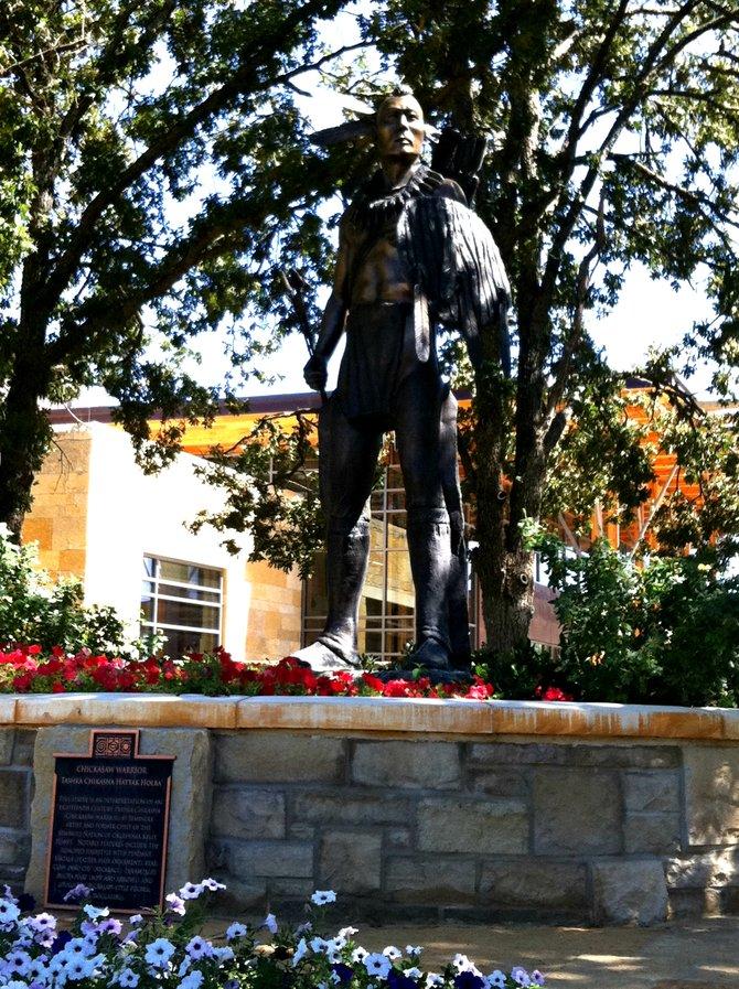 Chickasaw warrior statue