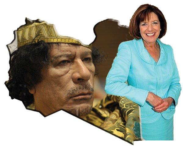 Happier times — Congresswoman Susan Davis visited Libya in 2004.