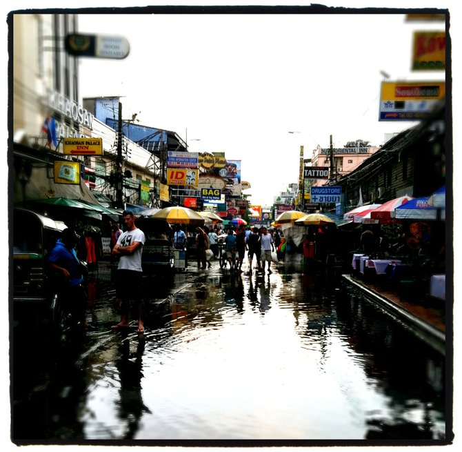 Getting nervous about floodwaters in Bangkok