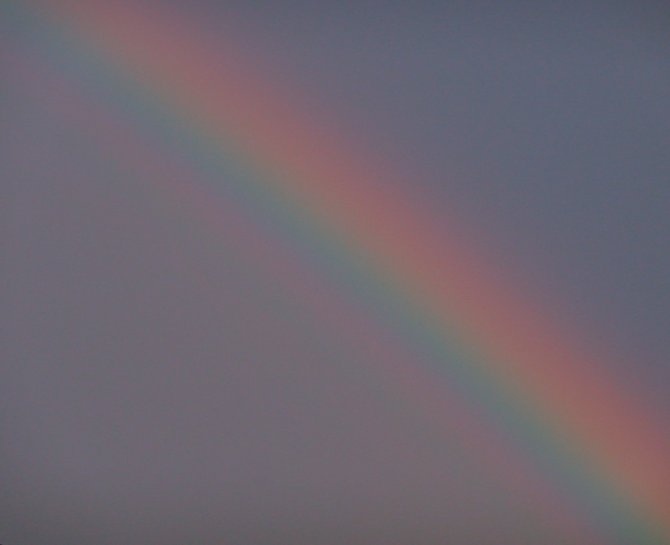 Close up of the rainbows reflections seen over North Park after the big storm!