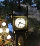 The Gas Town Steamclock in Vancouver, British Columbia.